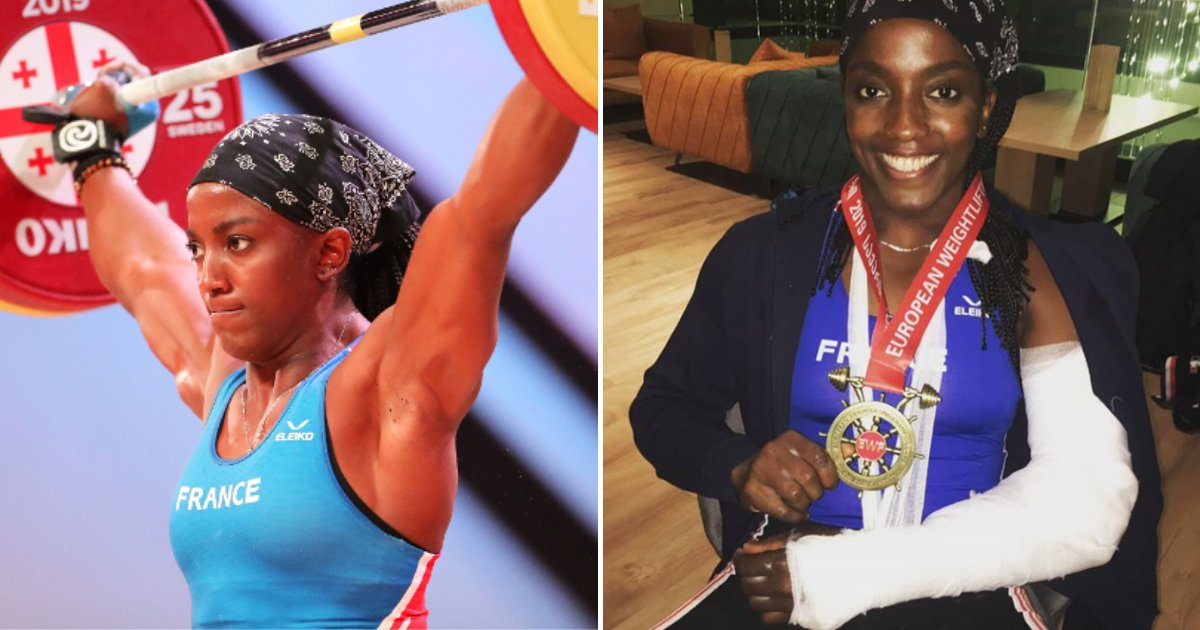 gaelle5.png?resize=1200,630 - 31-Year-Old Weightlifter Has Broken Her Arm At European Weightlifting Championships