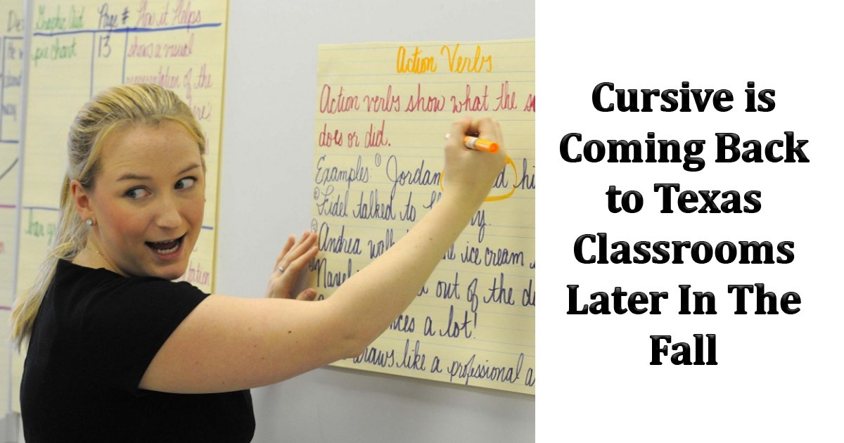 gaga.jpg?resize=412,232 - Texas Is Pushing Hard To Teach Cursive Handwriting In Classrooms