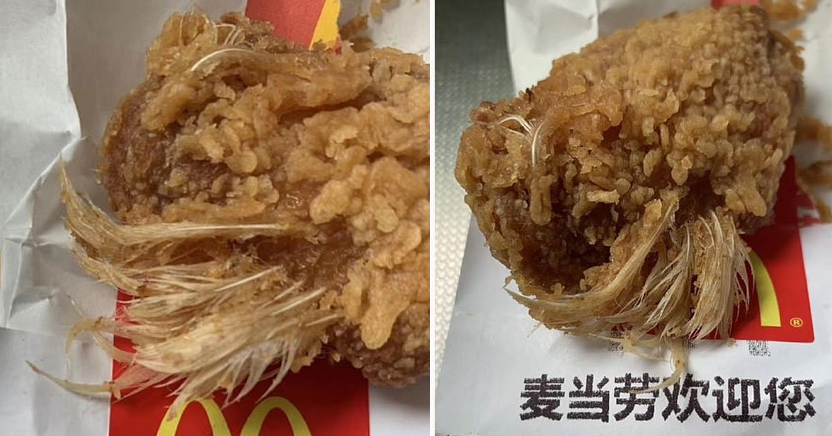mcdonalds chicken feathers.jpg?resize=412,232 - Girl Choked On McDonald's Fried Chicken Wing With Feathers Still Attached To It