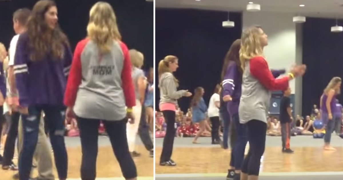 mom dances.jpg?resize=412,232 - Daughter Cheered For Her Mother Who Showed Off Her Dance Moves In A Dance Competition