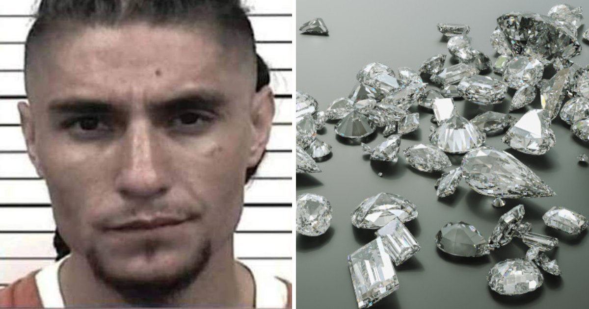 padilla2.png?resize=1200,630 - 23-Year-Old Man Arrested After Cops Found Over 44 Diamonds Hidden In An Interesting Place