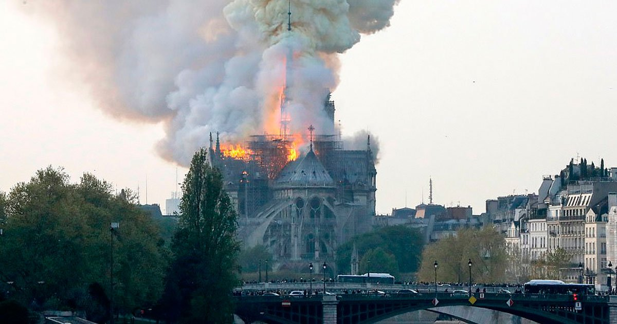 paris fire.jpg?resize=412,232 - Fire At Notre Dame Cathedral In Paris - French President Macron Said: 'We Will Rebuild Notre Dame'