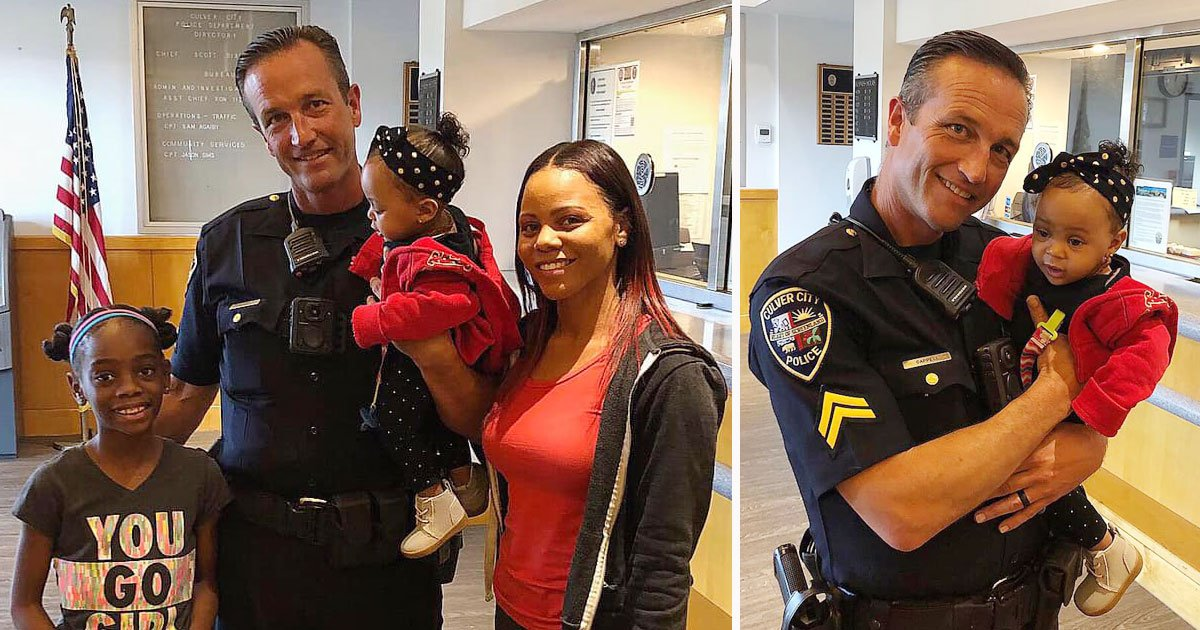 police saves baby.jpg?resize=412,232 - Body Cam Footage Shows Police Officer Saving The Life Of A Baby