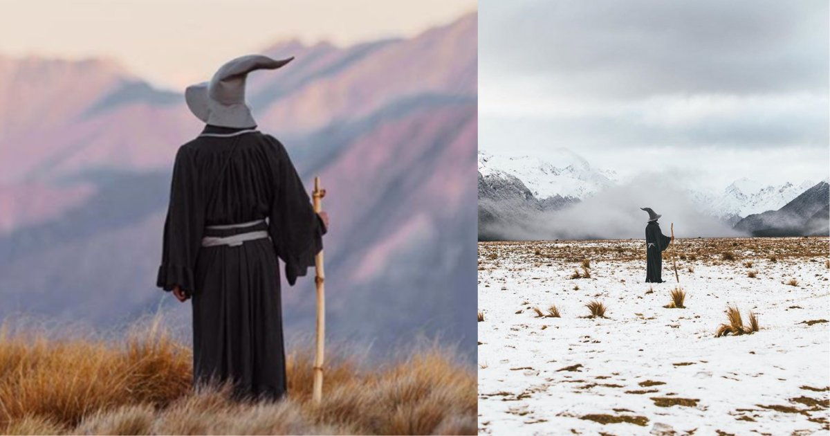 s4 16.png?resize=1200,630 - Superfan of Lord of The Rings Pays a Visit to New Zealand as Gandalf