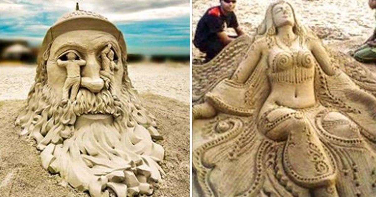 sand sculptures.jpg?resize=412,232 - 40+ Amazing Sand Sculptures That Breathes Life Into Sand