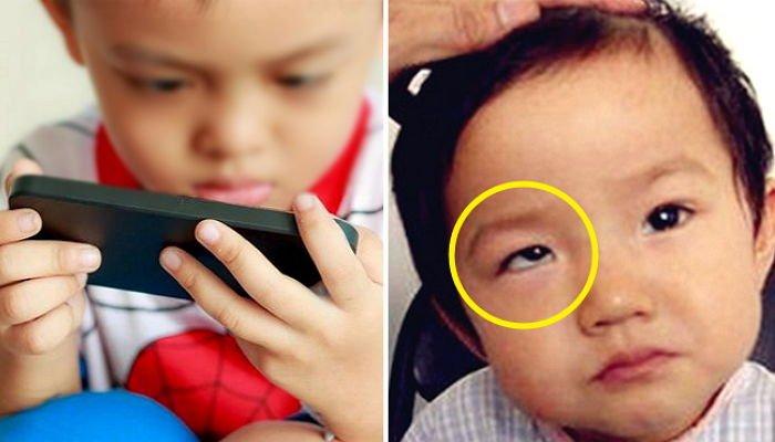smaho me.jpg?resize=1200,630 - お母さんの「スマートフォン」を持って遊んでいた子供の「きれいな目」がこうなった