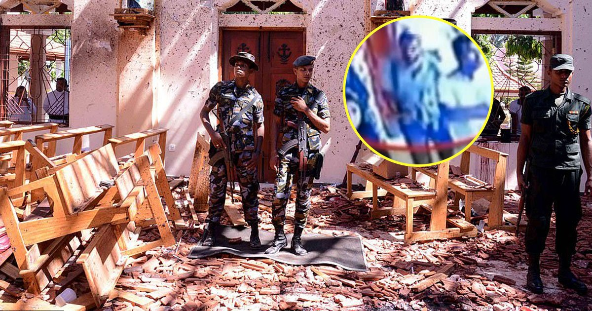 sri lanka attacks.jpg?resize=412,232 - CCTV Footage Shows One Of The Attackers Entering St. Sebastian's Church In Sri Lanka Before Blast