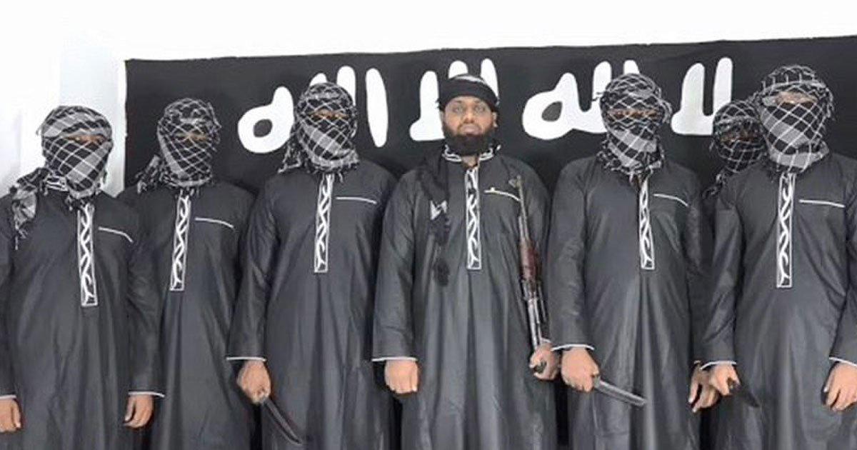 suicide bombers.jpg?resize=412,232 - Video Of Eight Suicide Bombers Pledging Allegiance To ISIS Leader Before The Easter Massacre In Sri Lanka