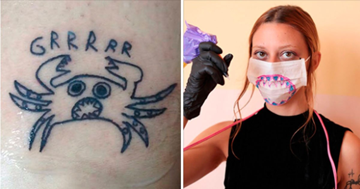 tattoo bad.jpg?resize=412,275 - Tattoo Artist Is Bad At Drawing But That Is Exactly Why Her Clients Love Her Work