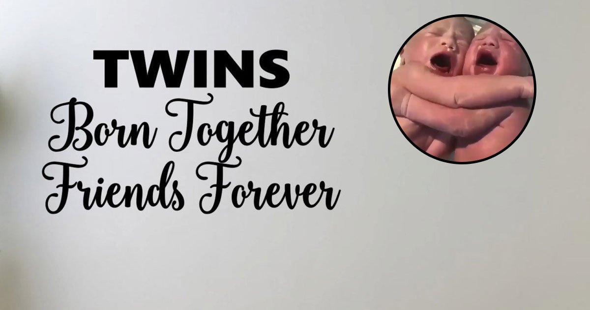 twins.jpg?resize=412,232 - Video Of Newborn Twins Hugging And Comforting Each Other Went Viral