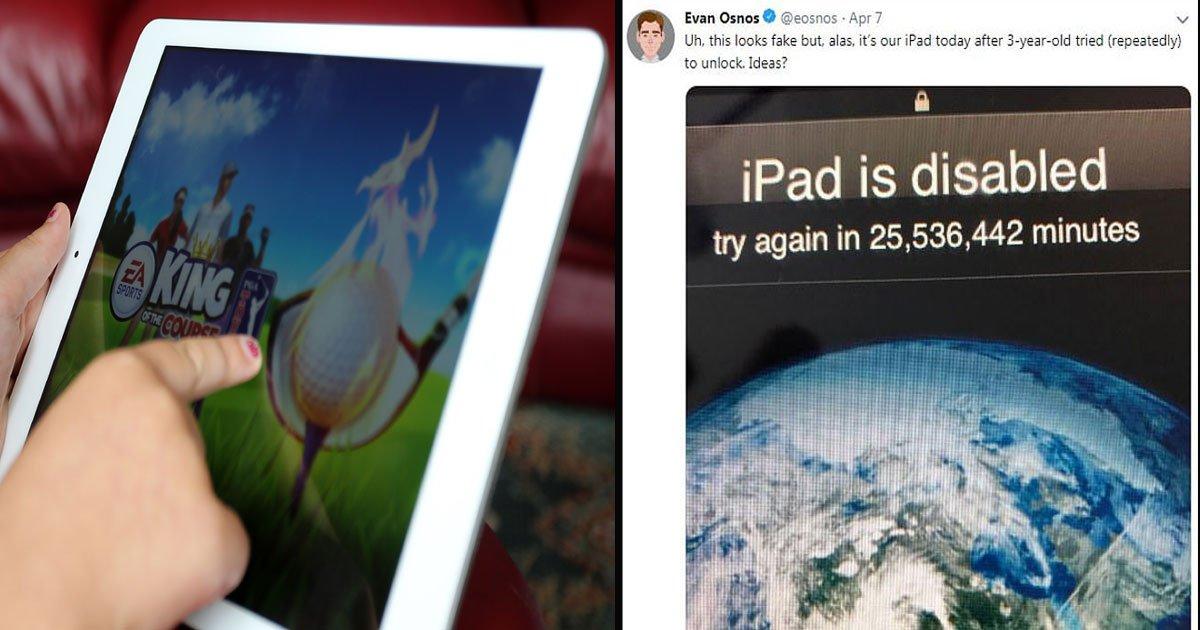 untitled 1 22.jpg?resize=412,232 - Un garçon de 3 ans a bloqué l'iPad de son père pour 49 ans