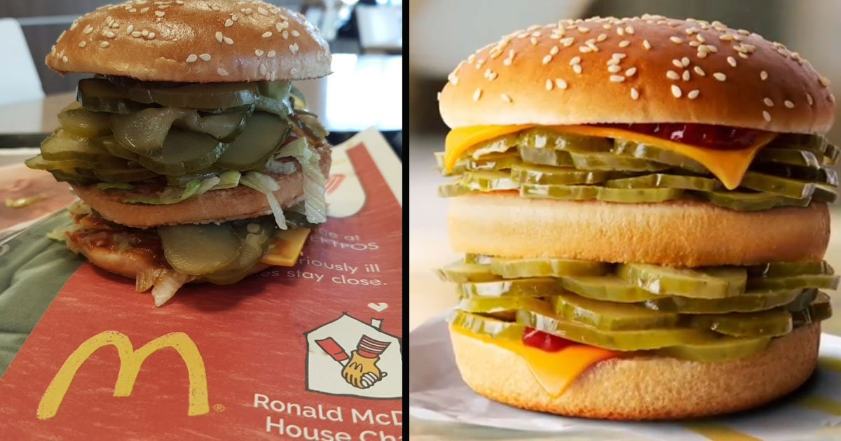 untitled 1 24.jpg?resize=1200,630 - Man Created Mcdonald's April Fool's Day McPickle Burger For Real