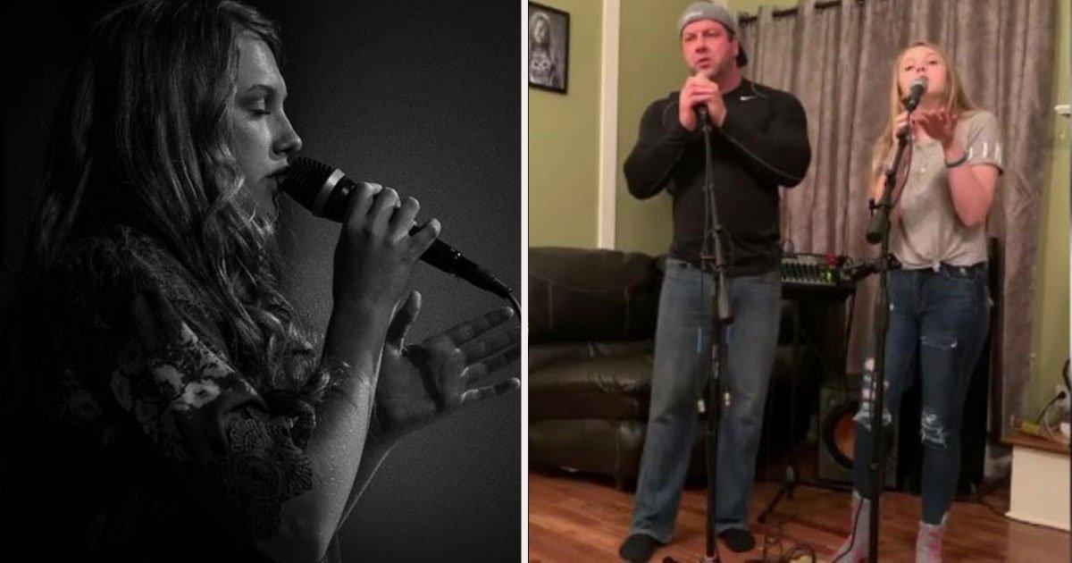untitled 1 37.jpg?resize=300,169 - Un incroyable duo père-fille reprend la chanson à succès du film 'A star is born'