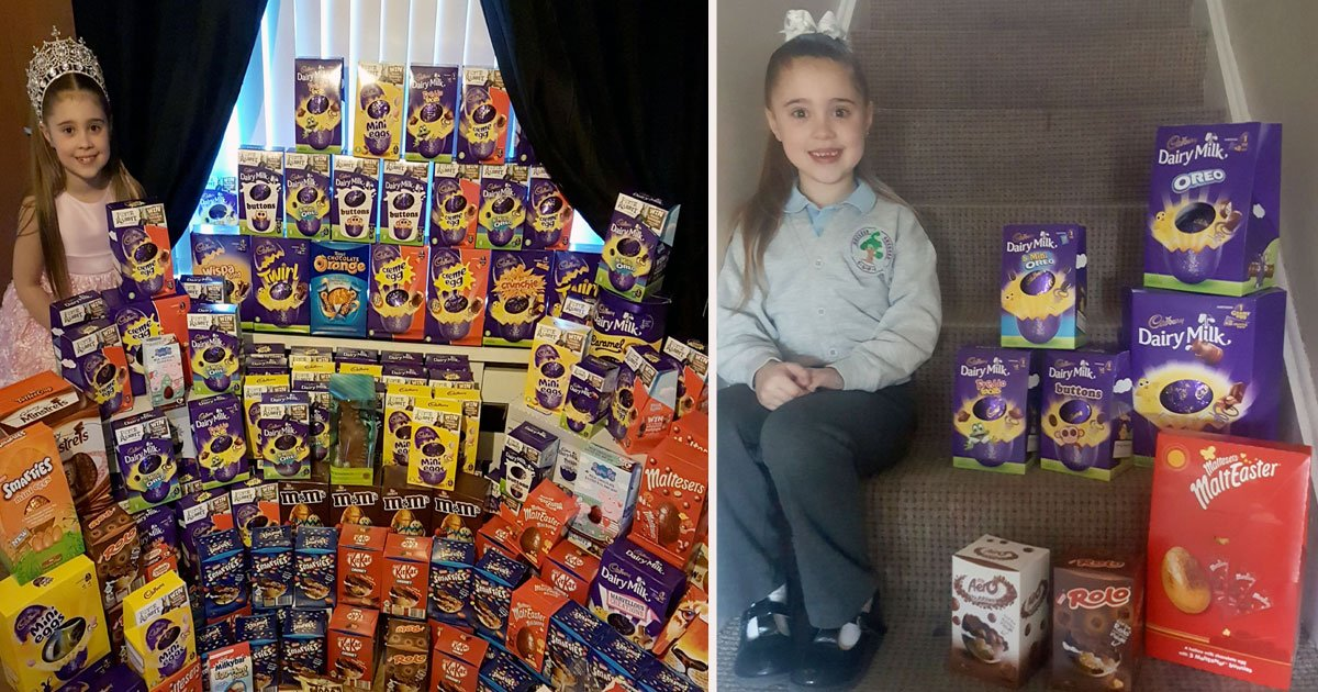 untitled 1 54.jpg?resize=1200,630 - Nine Year Old Girl Donated Over 1,000 Easter Eggs For Sick Children In The Hospital