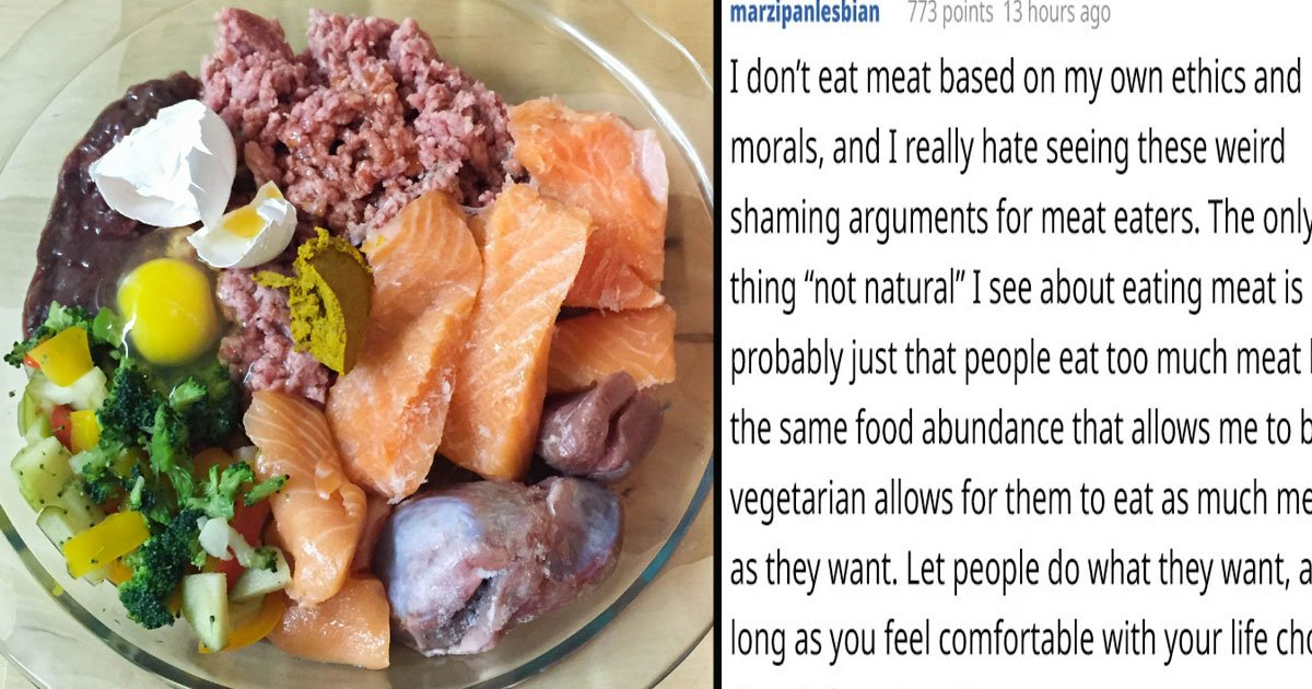 untitled 1 68.jpg?resize=412,232 - Angry Vegan Asked People To Hunt For Animals And Eat Them Raw To Make It 'Natural'