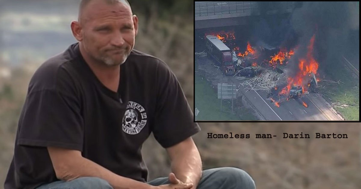 untitled 1 74.jpg?resize=412,232 - Homeless 'Hero' Rushed To Rescue Many Victims From A Fiery Crash