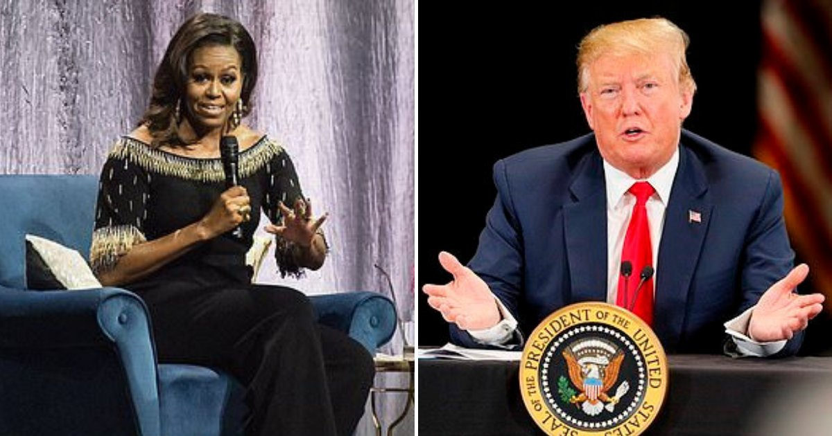 untitled design 34.png?resize=412,232 - Michelle Obama Branded Insensitive After Comparing Trump To A 'Divorced Dad'