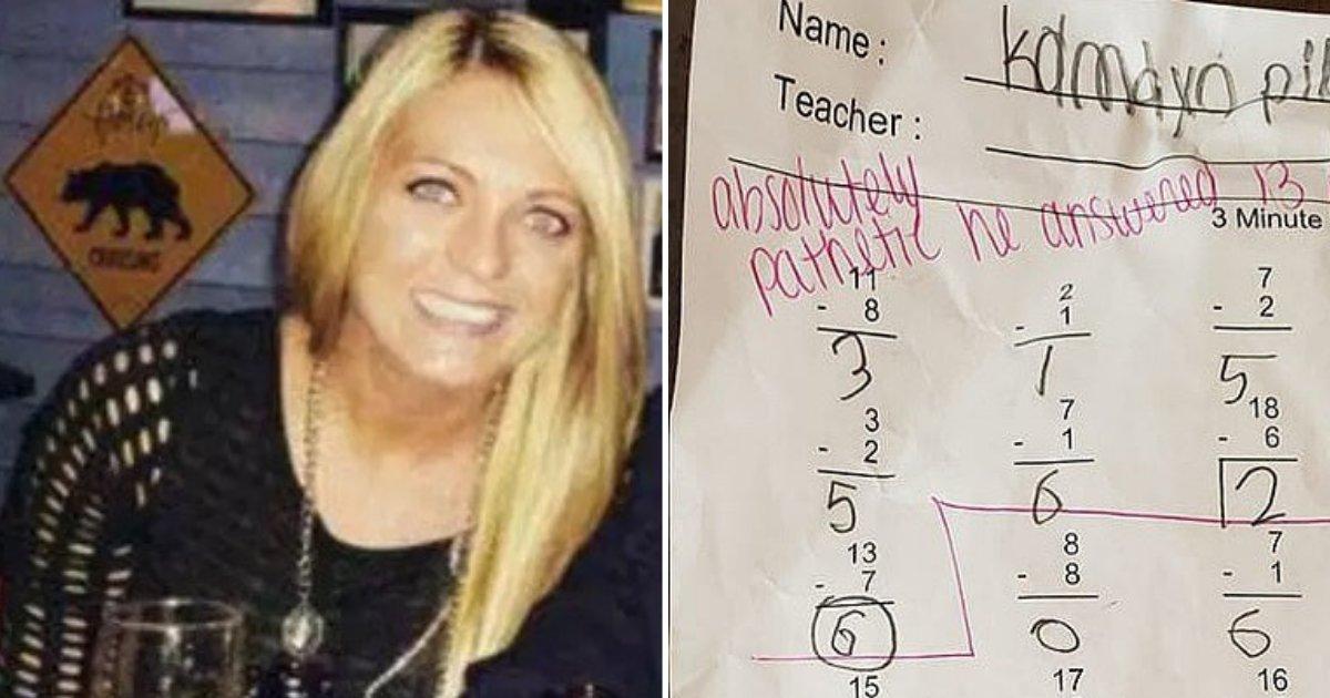 untitled design 54 1.png?resize=412,232 - Les parents demandent à l'enseignante de se faire licencier après avoir écrit «absolument pathétique» sur la copie d'un élève