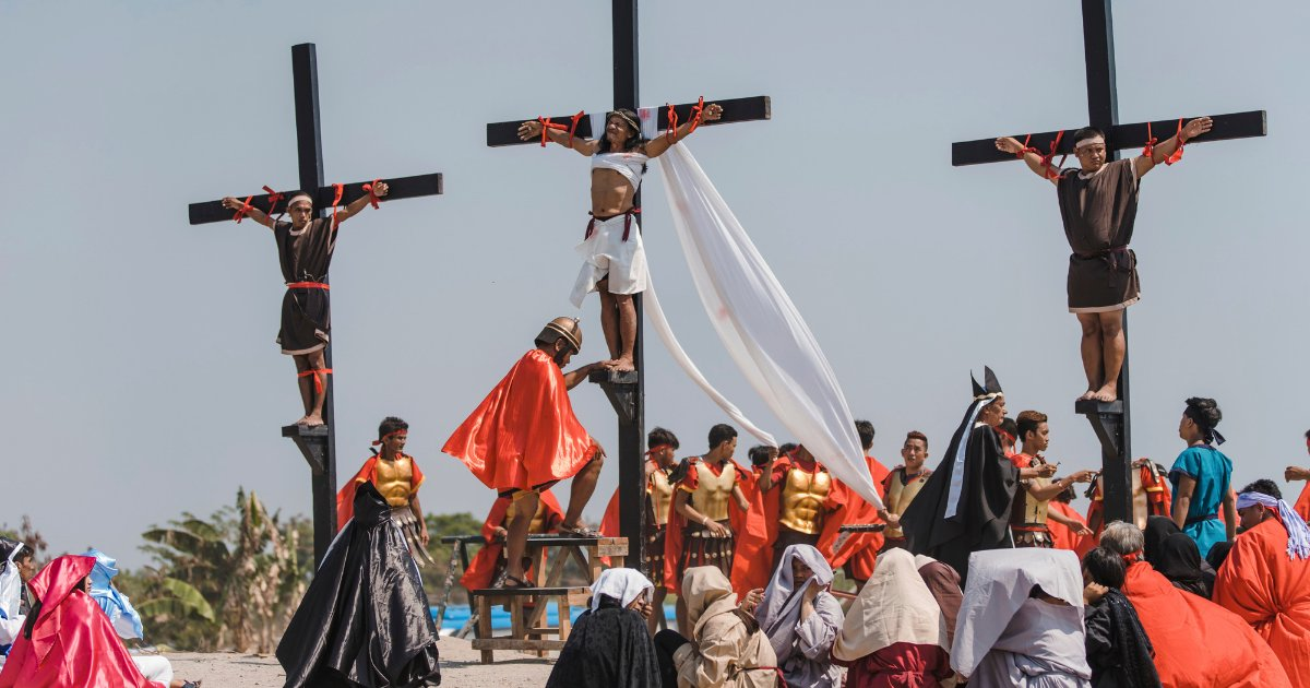 untitled design 55 1.png?resize=1200,630 - Devoted Christians Nailed To Wooden Crosses In Celebration Of Good Friday