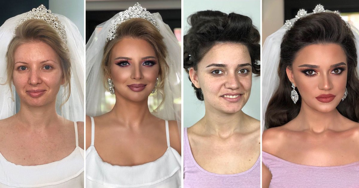 wedding make up.png?resize=1200,630 - 10 Photos Showing Brides Before And After Applying Wedding Makeup
