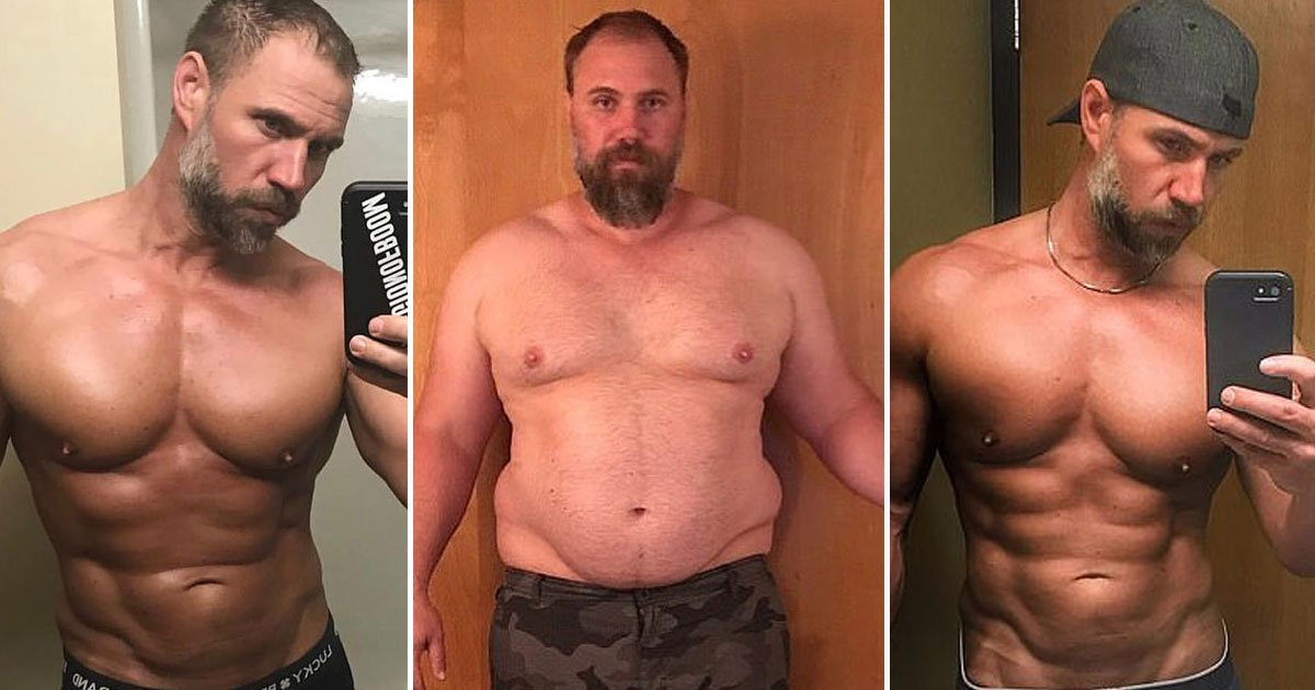 weight loss transformation.jpg?resize=1200,630 - Father-Of-Three Lost 92lbs In Just 5 Months After Changing His Diet And Exercise Habits