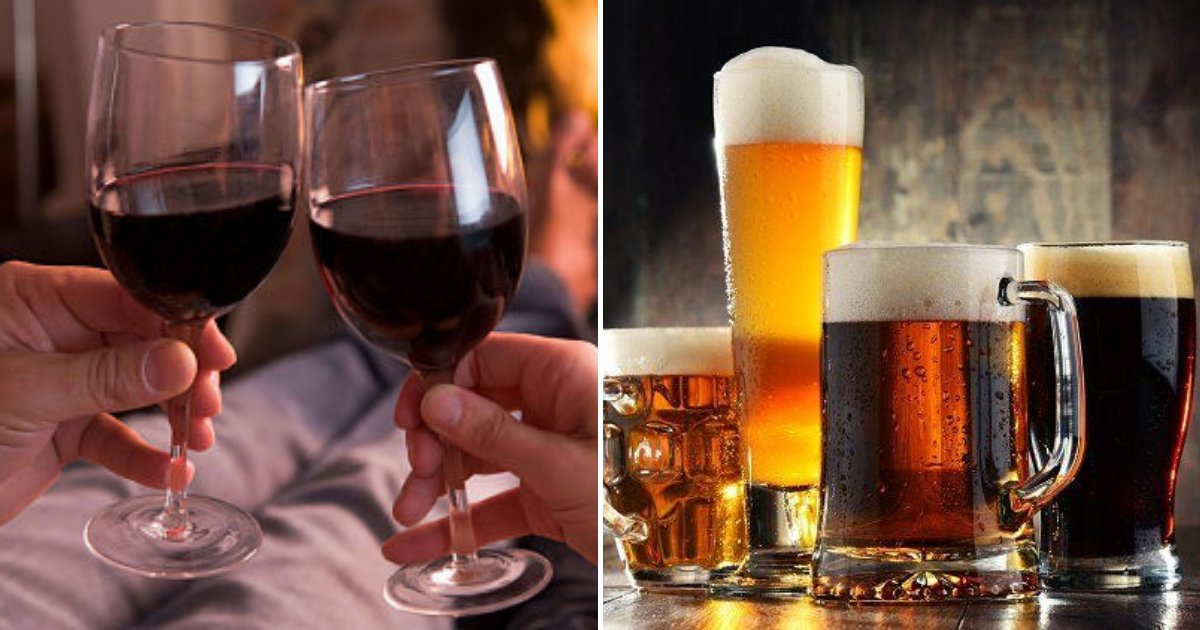 wine2.png?resize=1200,630 - A Pint Of Beer Or Glass Of Wine Each Night Increases The Risk Of A Stroke