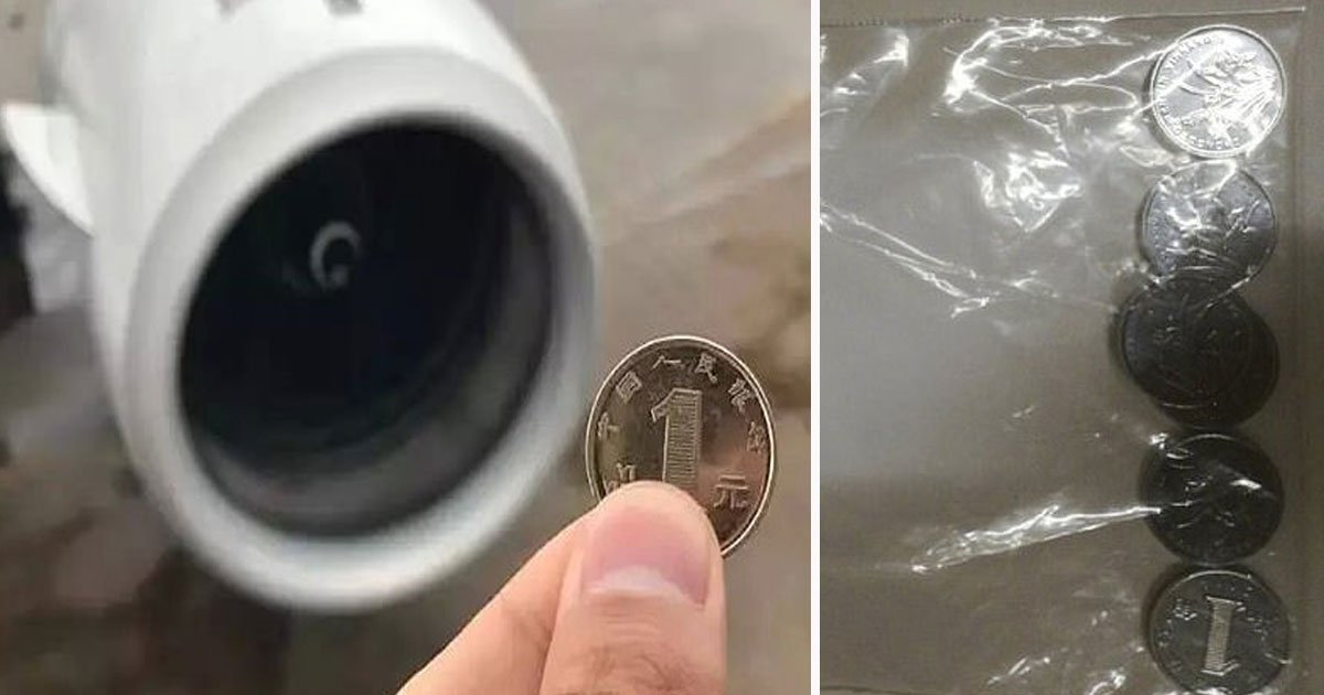 woman throws coins flight.jpg?resize=1200,630 - Female Passenger Threw Six Coins At A Plane's Engine For Good Luck