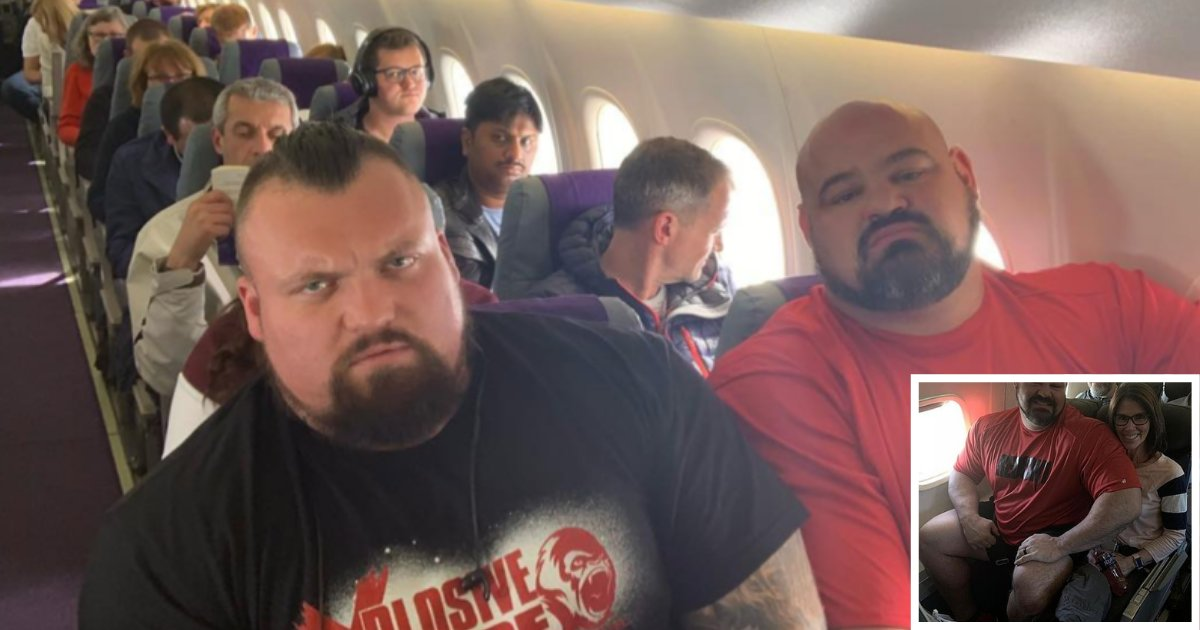 y1 11.png?resize=1200,630 - Two Strongest Men in the World Were Squeezed Next to Each Other in an Economy Class Flight