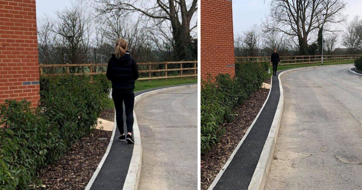 y2 1.png?resize=1200,630 - La Grande-Bretagne a construit le trottoir le plus inutile. Il ne fait que 40 cm de large.