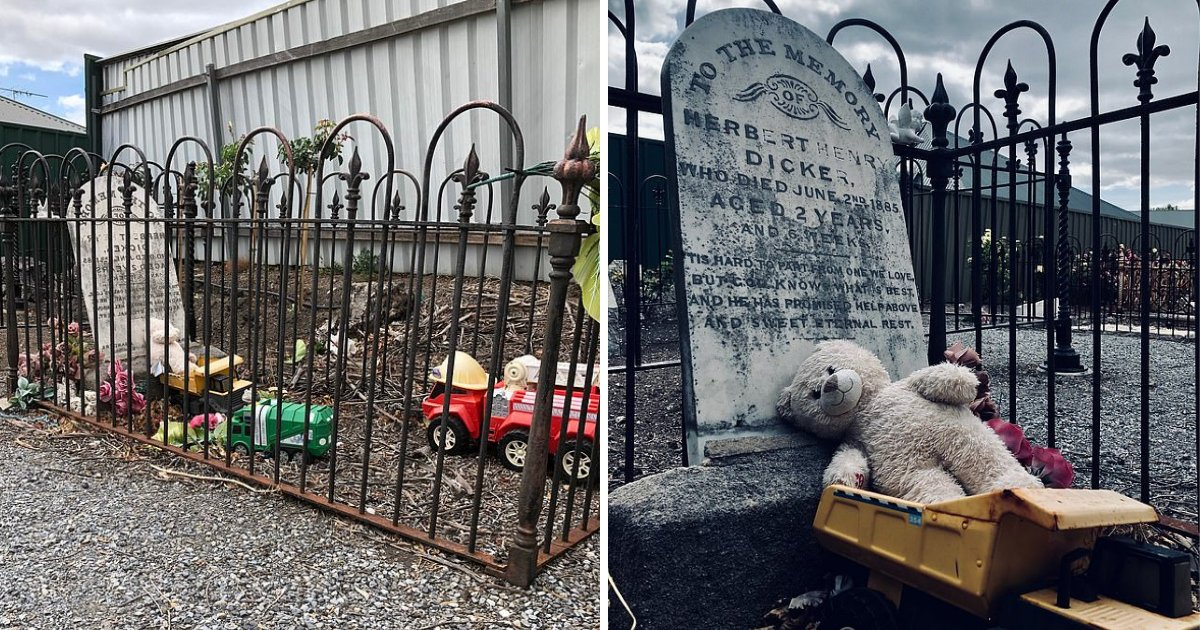 y2 19.png?resize=1200,630 - Grave of 2 Year Old Who Died More Than 100 Years Ago Is Found With Toys Left on it Mysteriously