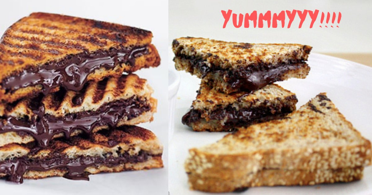 y3 10.png?resize=1200,630 - Chocolate Fantasy: A Grilled Sandwich With Dark Chocolate, A Mouth Watering Recipe