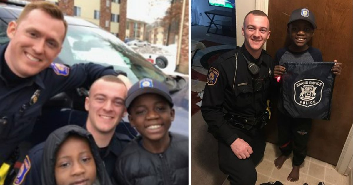 y4 10.png?resize=1200,630 - Officer Saw A Boy Crying and Running on the Sidewalk and Instantly Knew He Had to Help Him