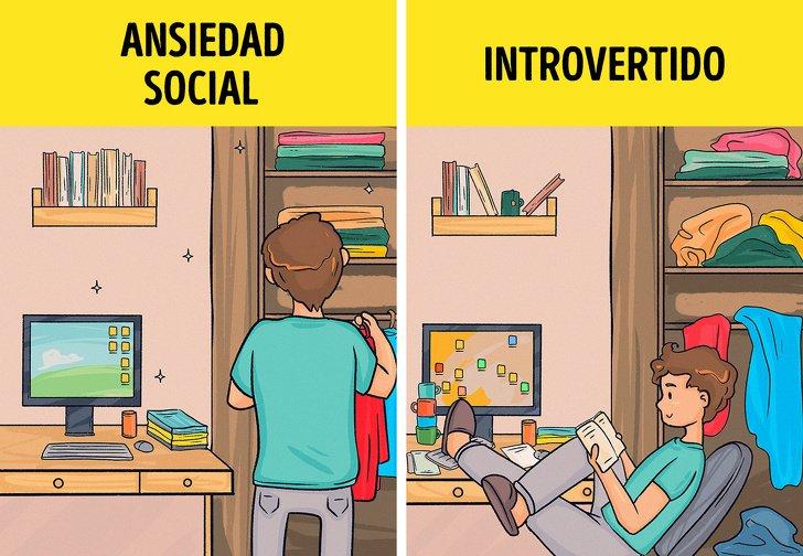 8Señales que reflejan que noeres una persona introvertida, pero sufres deansiedad social