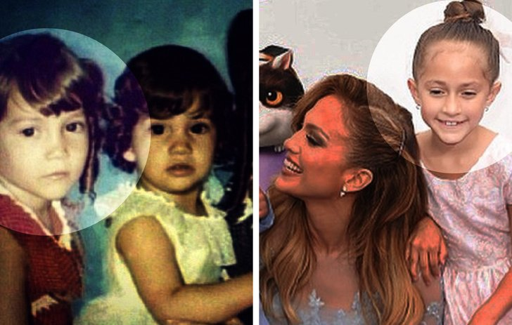 12 Pares de famosos y sus hijos a la misma edad (La hija de Milla Jovovich es su copia exacta)
