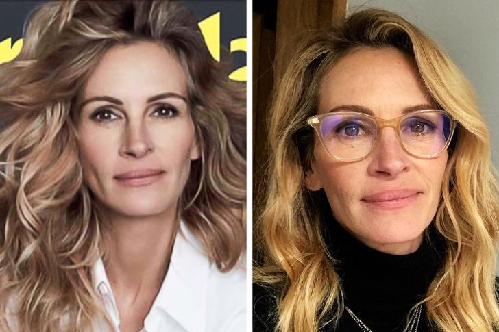 15+ Ejemplos reales de cómo se ven sin Photoshop algunas famosas con más de 45 años