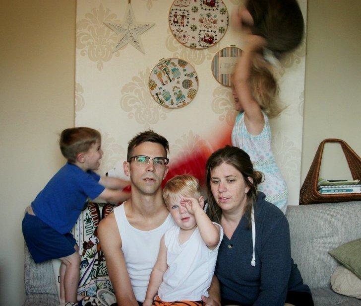 15Fotos que mostram que ter uma família não étarefa fácil