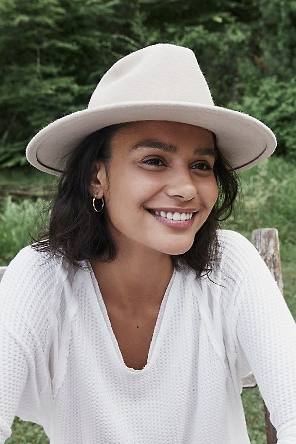 "Promising review: ""I've been looking for a thick-brim hat that keeps its structure for a while now. This was definitely the most affordable and was the best quality that I came across. I would definitely recommend!"" —Norr113Price:  (available in four colors)"