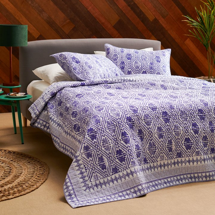 Includes a quilt and two matching shams. Price: + (available in two sizes)