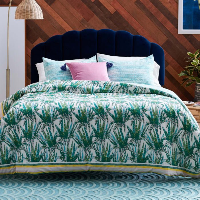 "This set includes a comforter and two matching shams. Promising review: ""I love this new collection. I ordered this set for my guest bedroom — I have it on Airbnb, so the aesthetics are very important to me. It looks great in the bedroom. It's very chic, fun, and at a fantastic price point!"" —sunnyhapaPrice: + (available in two sizes)"