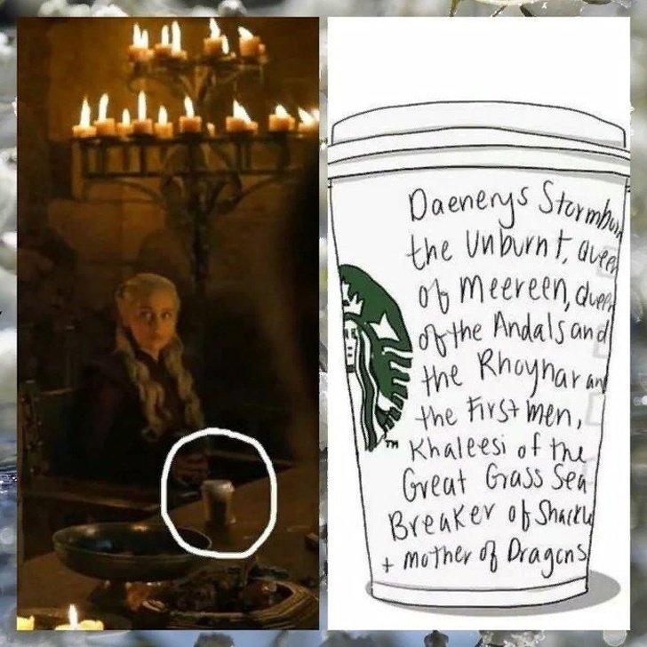 """Encontramos 9 errores de la serie """"Juego de Tronos"""" que serán una buena compañía para el vaso de Starbucks"""