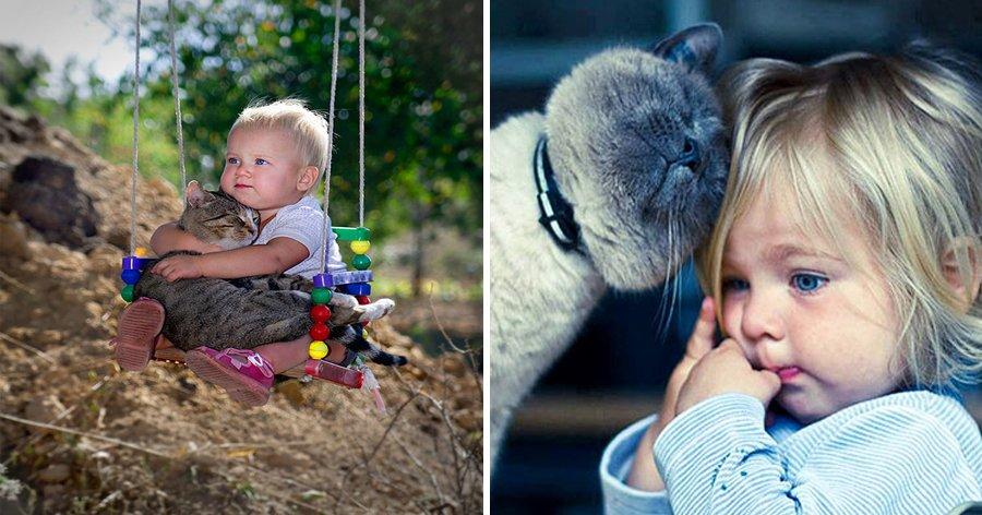 a7 4.jpg?resize=1200,630 - 20 Fotos adoráveis provando que toda criança precisa de um gato