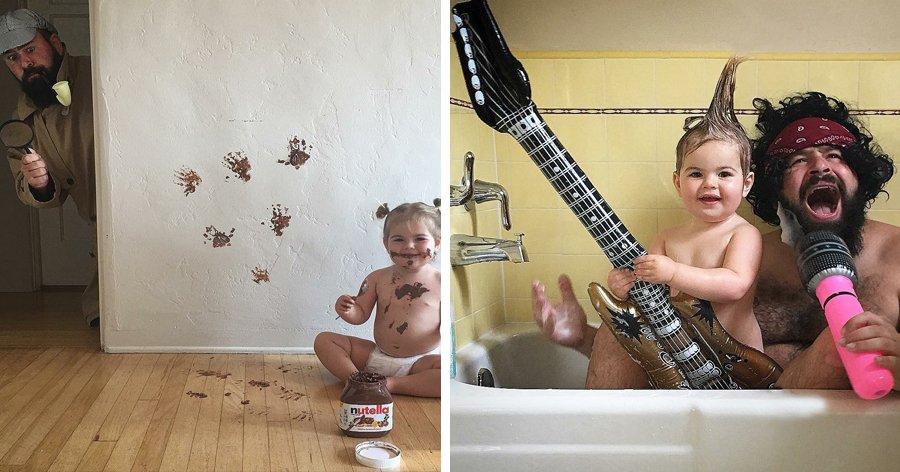 a8 8.jpg?resize=412,232 - 24 Fotos de um pai que demonstra que a verdadeira essência da paternidade está no humor