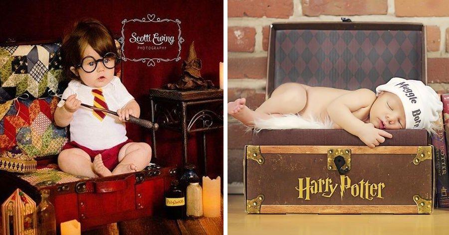 a9 11.jpg?resize=412,232 - Fotos Newborn com temática de Harry Potter serão as coisas mais fofas que você verá hoje.