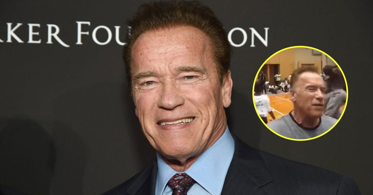 arnold drop kicked.jpg?resize=412,232 - Arnold Schwarzenegger Drop-Kicked By A Man At The Arnold Sports Festival In South Africa