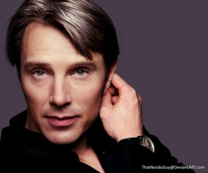 artista combina rostros de Benedict Cumberbatch y Mads Mikkelsen