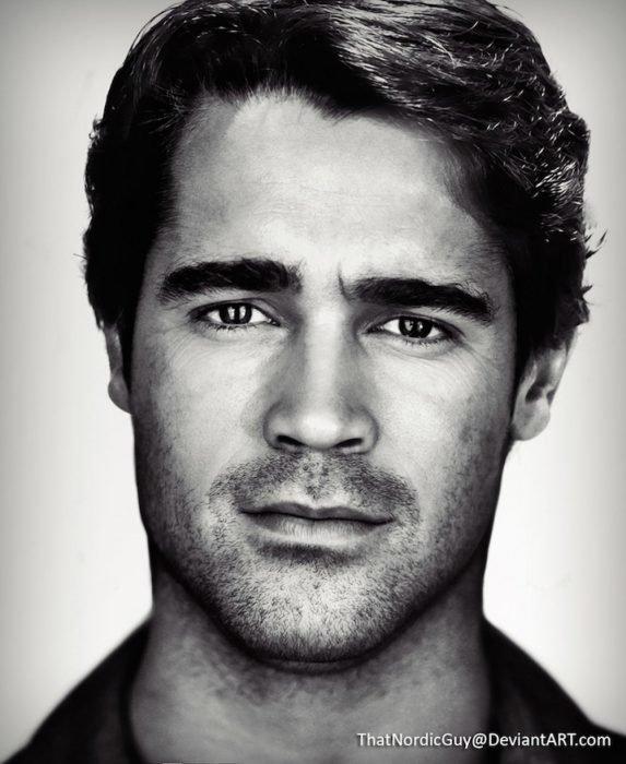 artista combina rostros de Colin Farrell y Arnold Schwarzenegger