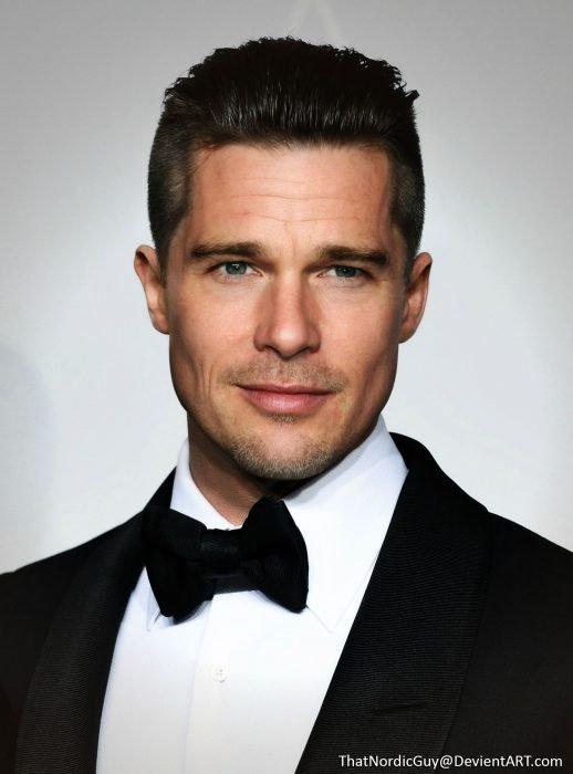 artista combina rostros de Brad Pitt y Ethan Hawke
