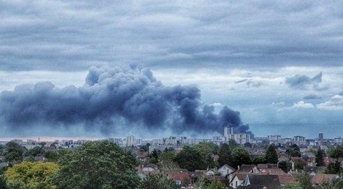 aubervillier 1.jpg?resize=412,232 - Des entrepôts d'Aubervilliers ravagés par un gros incendie