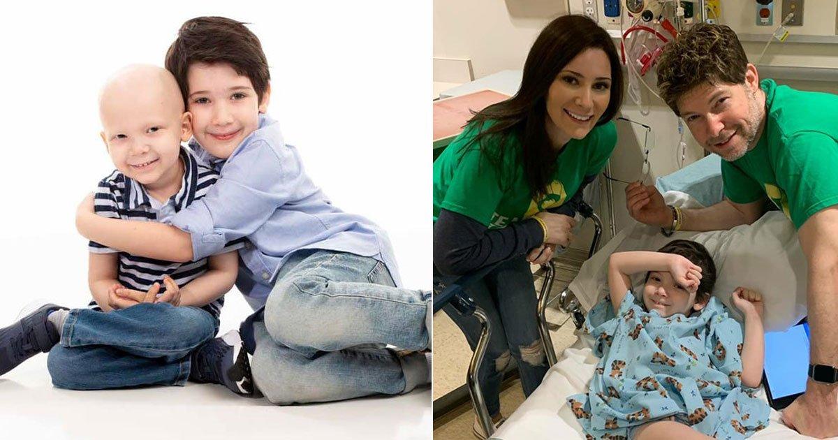 boy chemo free.jpg?resize=412,232 - Des parents ont partagé une vidéo réconfortante de leur fils rentrant à la maison après 406 jours de traitement