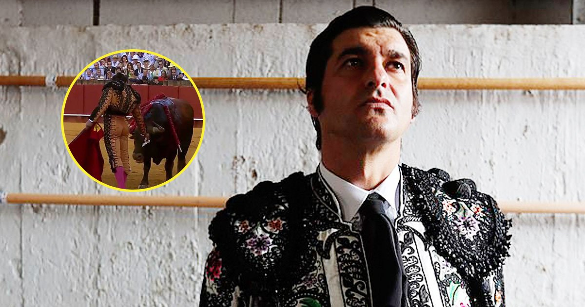 bull fighting.jpg?resize=412,232 - Video Of A Spanish Matador Wiping Away Blood From A Bull's Face Slammed Online